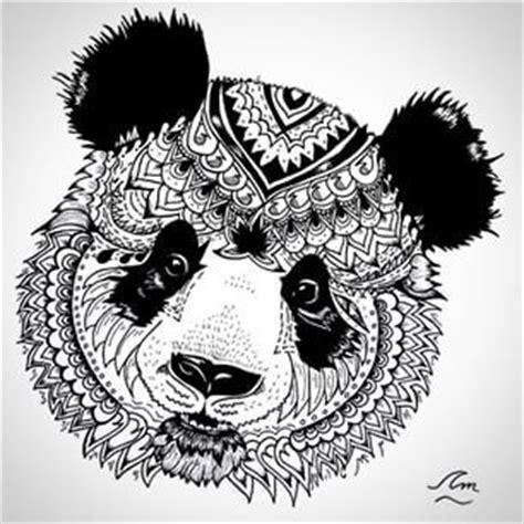 panda mandala tattoo mandala black and white animal google search coloring