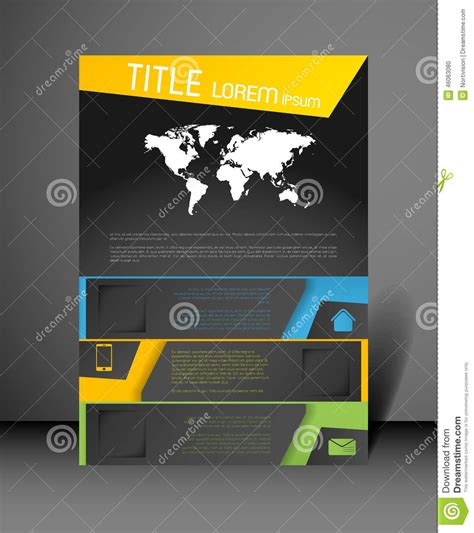 design poster modern poster design template stock vector image of company