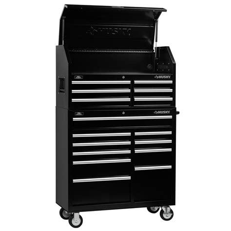 home depot husky cabinet husky 41 in 16 drawer chest and cabinet set h4116chtrp