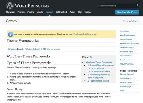 themes wordpress codex 4 of the most popular wordpress theme frameworks sitepoint