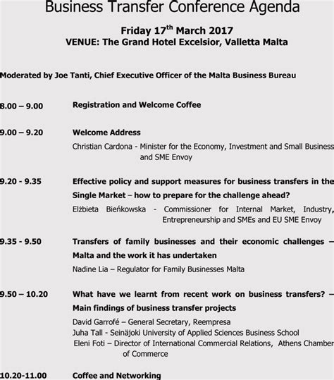 write  format  conference meeting agenda