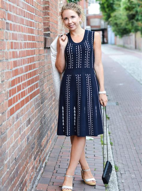 Dress Blazer Wedges feminine knit dress blazer chanel and wedges