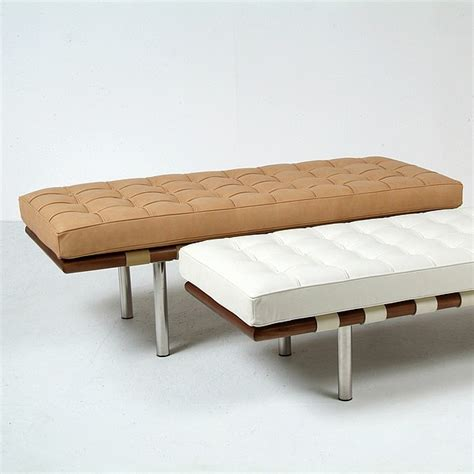 modern benches indoor mies van der rohe exhibition bench barcelona 2 seater