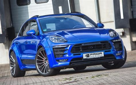 porsche macan 2016 blue prior design porsche macan returns in blue