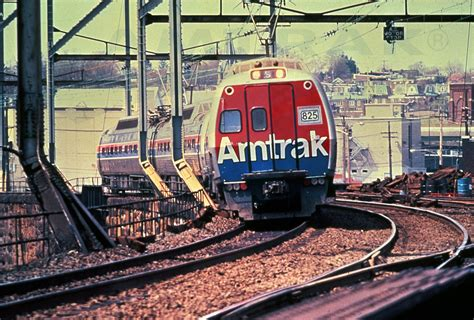 amtrak 1970 s metroliner service train led by coach no 825 1970s
