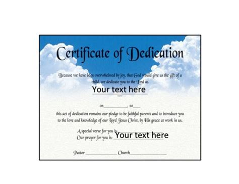baby dedication card template 50 free baby dedication certificate templates printable