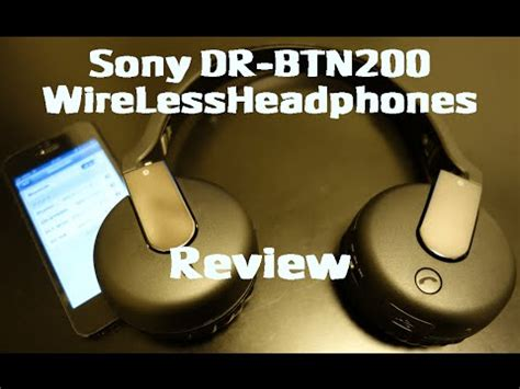 detailed review  sony wireless headphones dr btn doovi