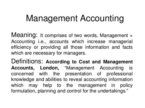 Meaning Of Mba Education by Management Accounting An Overview