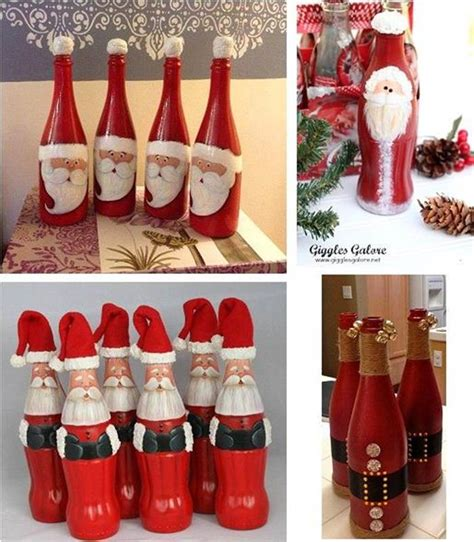 wonderful diy cute christmas bottle santa coke painted
