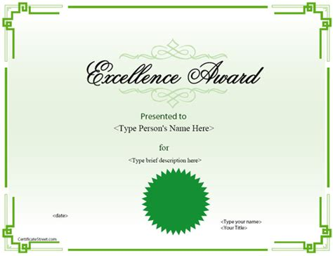 free educational certificate templates education certificates template for excellence