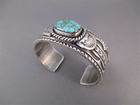 pilot mountain turquoise cuff bracelet by navajo