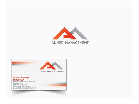 design management australia masculine bold logo design for anmeri management by jaime