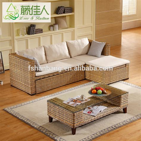Wicker Living Room Sets Rattan Wicker Woven Living Room Furniture Set Multipurpose Nurani