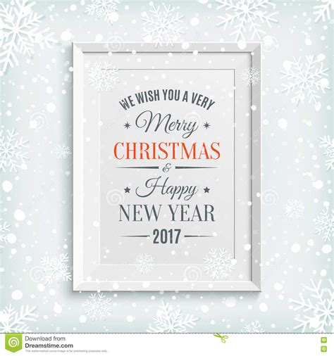 Greeting Card Template Merry by We Wish You Merry And Happy New Year 2017 Stock