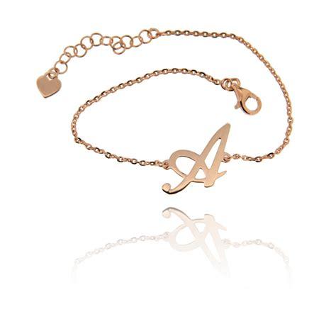 bracciale con lettere bracciale con lettera iniziale gioielli in oro alla moda