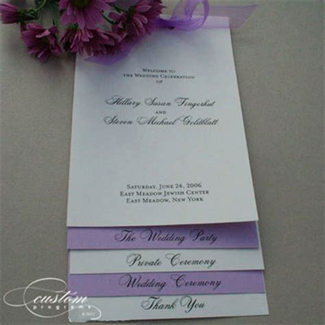diy layered wedding programs templates mini bridal