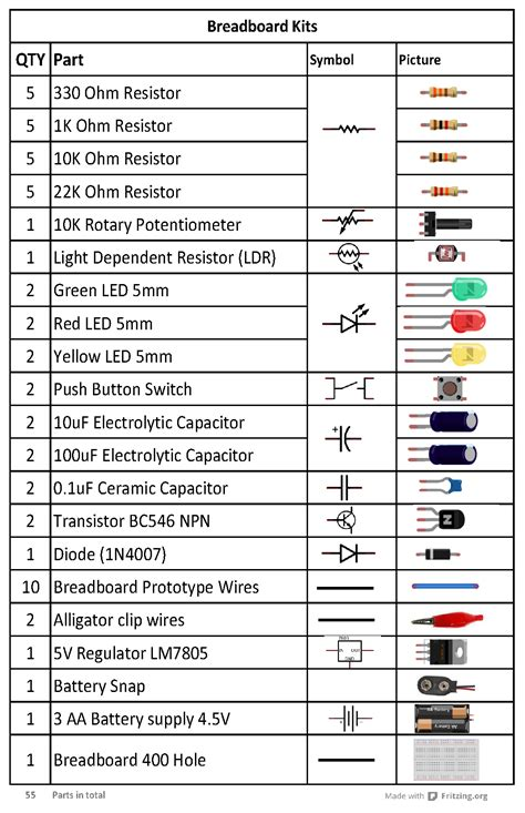 breadboard circuit components breadboard kit component list knowledge arduino tech and electrical engineering
