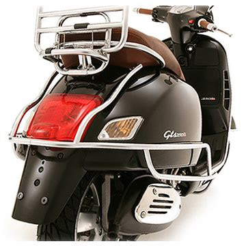 vespa gts super chrome rear protection ron daley motorcycles