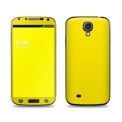 samsung galaxy s4 skin solid state yellow by solid colors decalgirl
