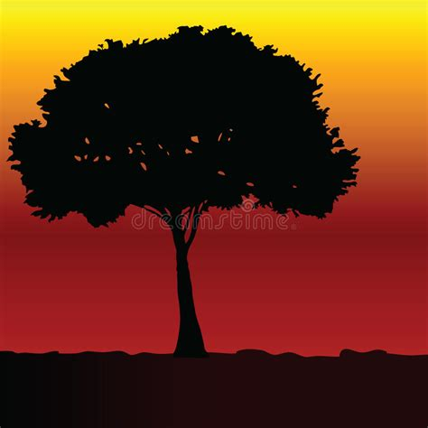 trees silhouettes stock illustration image of color 43384093 tree black vector silhouette stock vector illustration of forest garden 47157053