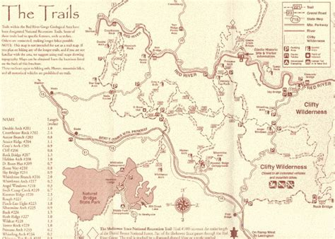 kentucky hiking map 11 best images about river gorge ky on