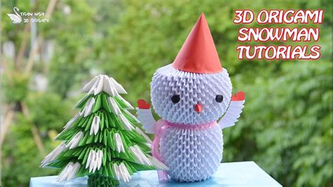 How To Make 3d Snowman Out Of Paper - how to make 3d origami snowman diy paper