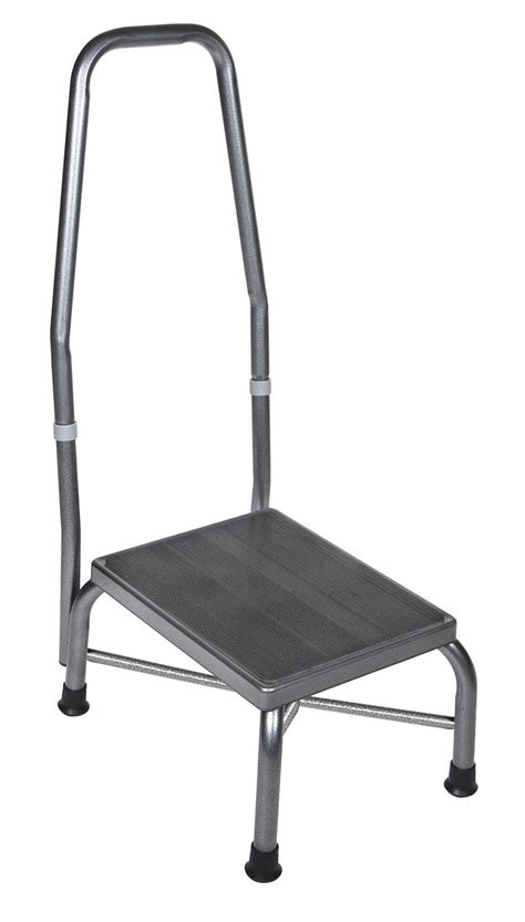 Weight Stool by Foot Stool With Handrail 500 Pound Weight Capacity