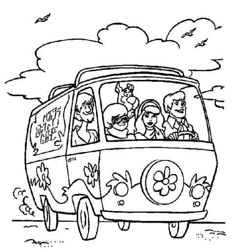 scooby doo coloring page scooby doo coloring pages coloringpagesabc