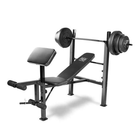 marcy pro bench marcy pro bench and weight set pm 20115