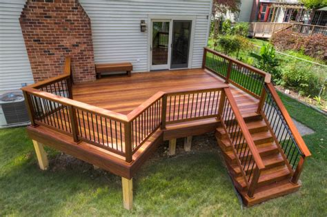 backyard deck photos clubhouse deck with aluminum railings in enola pa stump