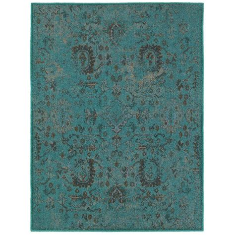 teal area rug home depot home decorators collection overdye ii teal 1 ft 10 in x 3 ft area rug c3692j055091hd the