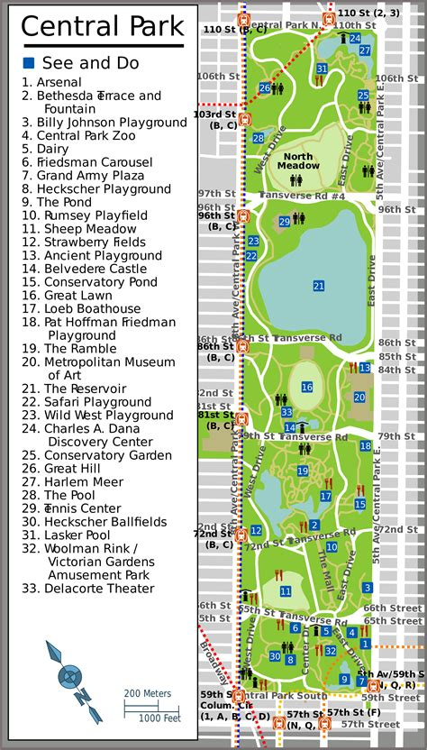 central map central park links 171 gypsyman in new york city