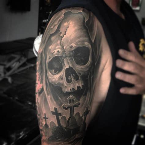 skull graveyard tattoo designs skull graveyard tattoos pictures to pin on