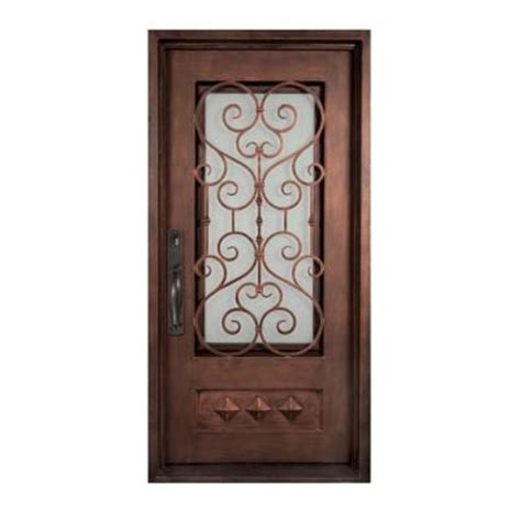 home depot wrought iron paint iron doors unlimited 46 in x 97 5 in vita francese
