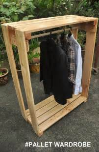 diy wooden pallet wardrobe project recycled pallet ideas