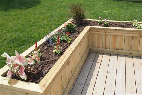 Deck Planter Boxes by Deck Planter Flower Box