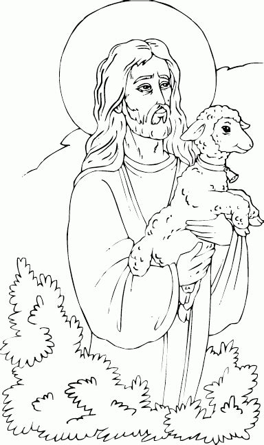 coloring page jesus with sheep christ with lamb coloring page coloring com