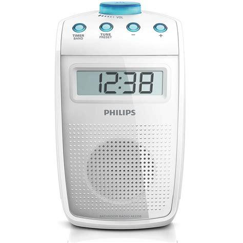 philips ae2330 am fm shower radio bathroom w digital clock