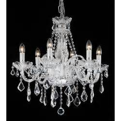 Chandeliers Glass Theresa 6 Light Chandelier