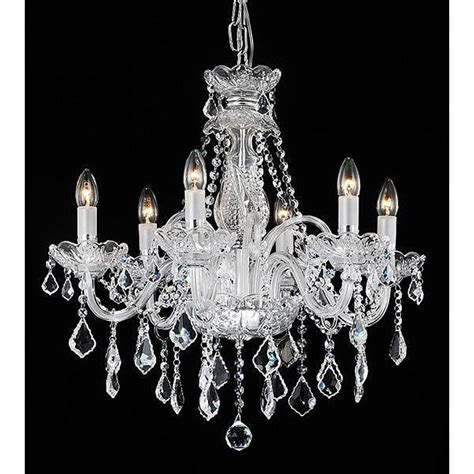 Glass Chandelier Theresa 6 Light Chandelier