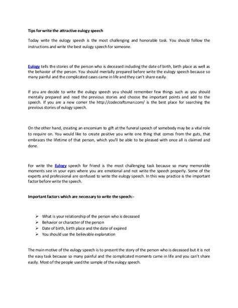 eulogy template for father tips for write the attractive eulogy speech