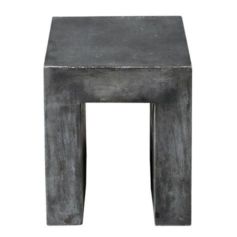 Magnesium Stool by Magnesia Concrete Effect Stool In Charcoal Grey Mineral