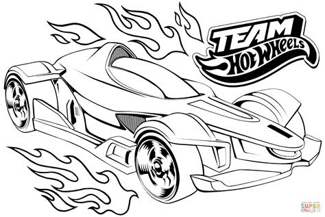hot wheels motorcycle coloring pages dibujo de team hot wheels para colorear dibujos para