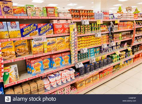 On The Shelf Shop by Food Products On Sale On The Shelves In A Poundland Shop