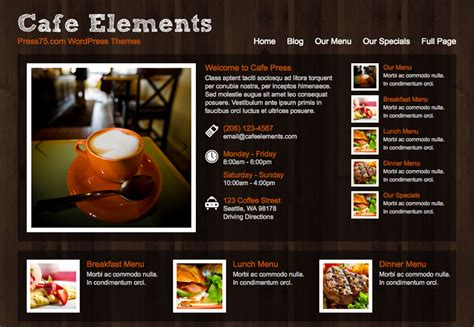 Light Depot 19 Coffee Shop Themes For Wordpress Webdesigner Depot