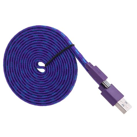 Taff Flat Braided Micro B Usb 3 0 Charging Sync Cable Black 1m 2m 3m flat rope braided micro usb 2 0 sync data charger cable for smart phone ebay