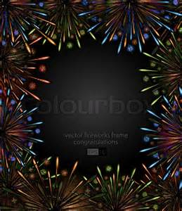 firework template vector fireworks frame color carnival show template
