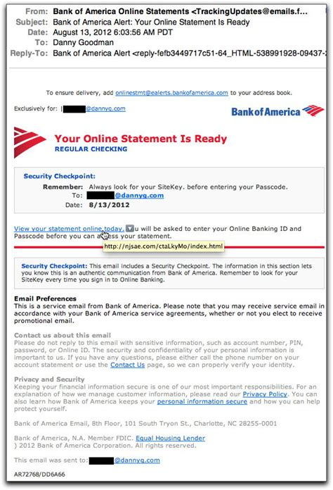 Spam Wars Our Last Best Chance To Defeat Spammers Scammers And Hackers Bank Of America Bank Statement Template