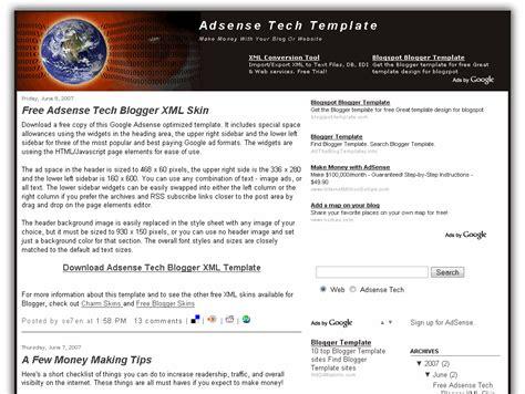 best blog layout for adsense adsense tech blogger template eblog templates