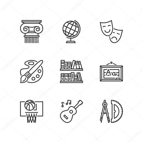 imagenes de simbolos sociales 라인 아이콘입니다 사회 과학 과목입니다 플랫 기호 스톡 벡터 169 spiral media
